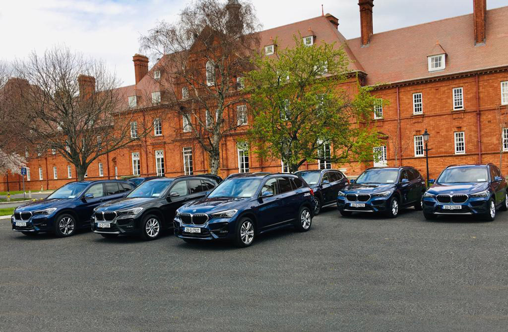 Image of a fleet of BMW cars